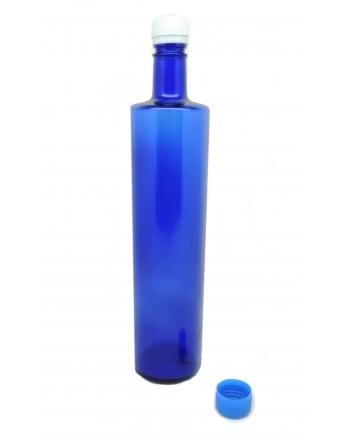 Bottiglia blu slim 75cl con tappo
