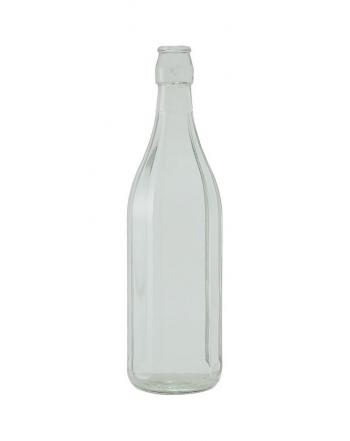 Bottiglia a coste 1 lt con tappo meccanico