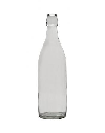 Bottiglia liscia 1 lt con tappo meccanico