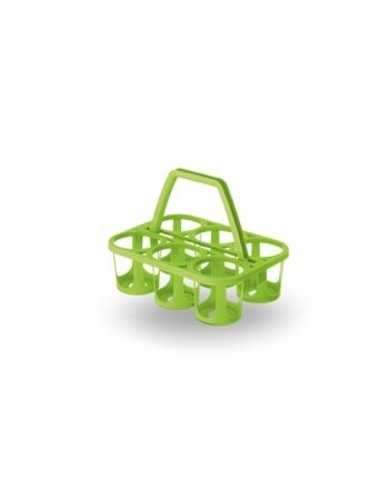 Cestello portabottiglie verde