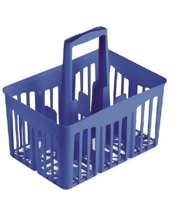 Cestello portabottiglie blu