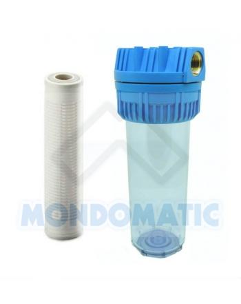 Pre-filtro con cartuccia CLEAN DROP lavabile a rete in poliestere